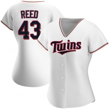 Authentic Addison Reed Women's Minnesota Twins White Home Jersey