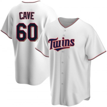 Replica Jake Cave Youth Minnesota Twins White Home Jersey
